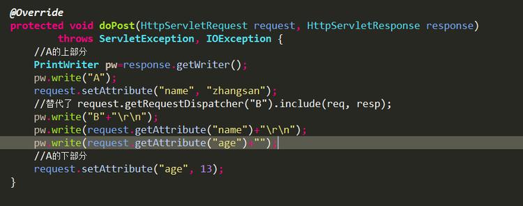 个人理解 request.getRequestDispatcher()的两个方法 forward()/include()。哪里错了,还麻烦各位提醒!