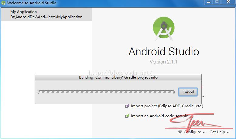 AndroidStudio 打开项目在 Building gradle project info 一直卡住 解决方法!